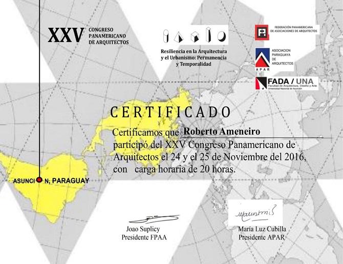 XXV Congreso Panamericano de Arquitectos. Roberto Ameneiro